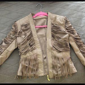 Jackets & Blazers - Leather nude jacket